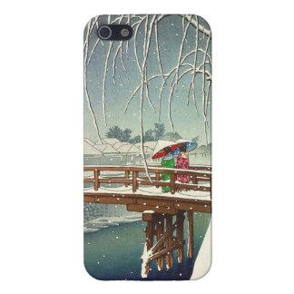 Late Snow Along Edo River Hasui Kawase winter art Case For iPhone SE/5/5s
