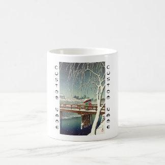 Late Snow Along Edo River Hasui Kawase winter art Coffee Mug