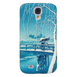 Late Snow Along Edo River hasui kawase winter art Galaxy S4 Cases