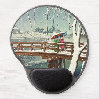Late Snow Along Edo River Hasui Kawase winter art Gel Mouse Pad