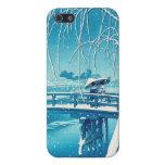 Late Snow Along Edo River hasui kawase winter art Case For iPhone 5/5S