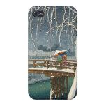 Late Snow Along Edo River hasui kawase winter art iPhone 4/4S Cover