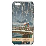 Late Snow Along Edo River hasui kawase winter art iPhone 5C Cover