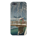 Late Snow Along Edo River hasui kawase winter art Covers For iPhone 5