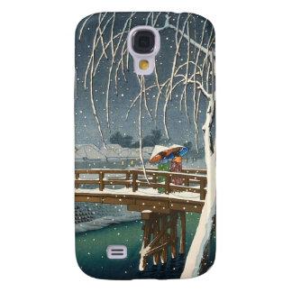Late Snow Along Edo River hasui kawase winter art Samsung Galaxy S4 Covers