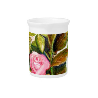 Late Spring Roses Drink Pitcher