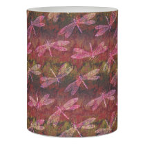 Late Summer Dragonfly Pattern Flameless Candle