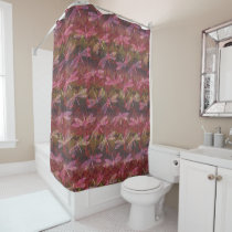 Late Summer Dragonfly Pattern Shower Curtain