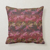 Late Summer Dragonfly Pattern Throw Pillow
