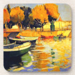 Late Summer on the Water in Portugal Vintage Drink Coaster