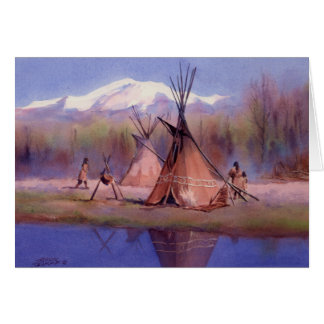 LATE SUMMER TIPI CAMP by SHARON SHARPE Card