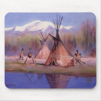 LATE SUMMER TIPI CAMP by SHARON SHARPE Mouse Pads