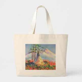 LATE SUMMER TIPIS by SHARON SHARPE Large Tote Bag