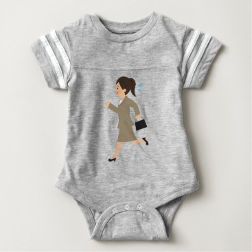 Professional Business Late to Work Baby Bodysuit