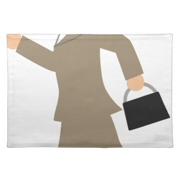 Professional Business Late to Work Cloth Placemat