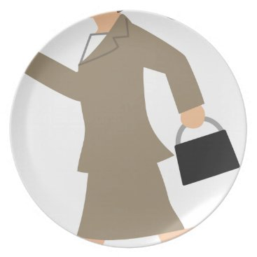 Professional Business Late to Work Plate
