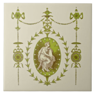 Late Victorian Neo-Classical Antique Tile Repro