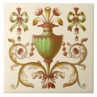 Late Victorian Neoclassical c. 1900 Design Tile