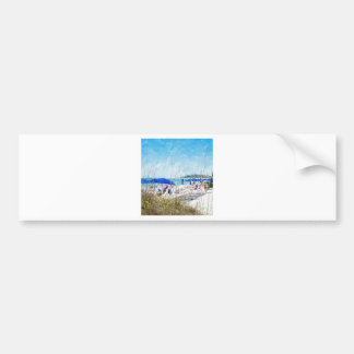 Late Winter Early Spring on Lido Beach Bumper Sticker
