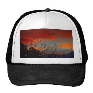Late winter sunset trucker hat
