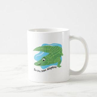 Later Alligator Classic White Coffee Mug