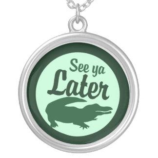 Later Alligator Round Pendant Necklace