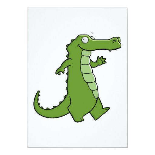 Later Gator 5x7 Paper Invitation Card