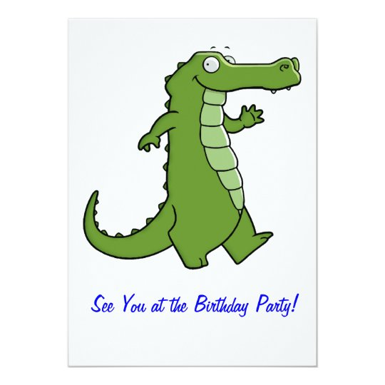 Later Gator Birthday Party Card