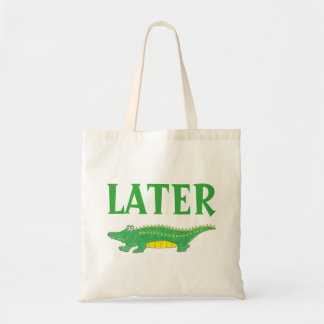 Later Gator Green Alligator Tote Bag