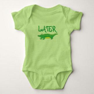Later Gator Green Yellow Alligator Baby Suit T Shirt