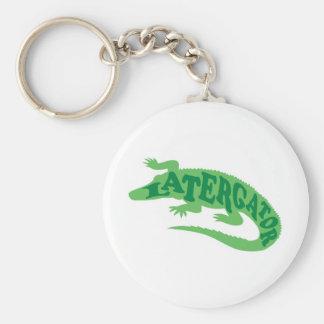 Later Gator Basic Round Button Keychain