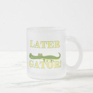 Later Gator 10 Oz Frosted Glass Coffee Mug