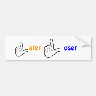 Later Loser Car Bumper Sticker