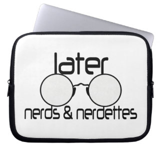 Later Nerds & Nerdettes Spectacle Eyeglasses Laptop Sleeve