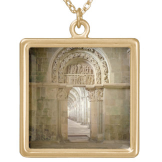 Lateral Portal, c.1125 (photo) Gold Plated Necklace