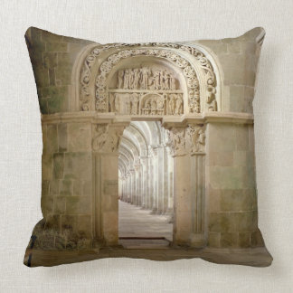 Lateral Portal, c.1125 (photo) Throw Pillow
