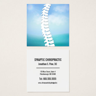 Lateral Spine Logo Chiropractor Square Business Card