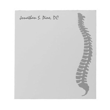 Lateral Spine Logo Doctor Personalized Notepad