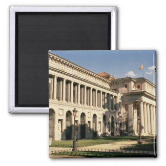 Lateral view of the Museum 2 Inch Square Magnet