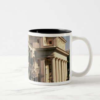 Lateral view of the Museum Two-Tone Coffee Mug