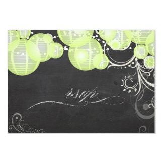 Laterns del verde del rsvp de PixDezines+pizarra Invitacion Personal