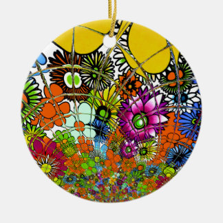 Latest colorful amazing floral pattern design art. ceramic ornament
