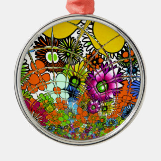 Latest colorful amazing floral pattern design art. metal ornament