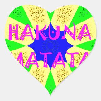 Latest Hakuna Matata Beautiful Amazing Design Colo Heart Sticker