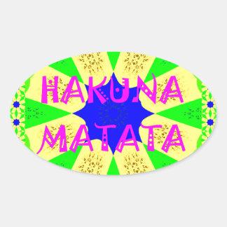 Latest Hakuna Matata Beautiful Amazing Design Colo Oval Sticker
