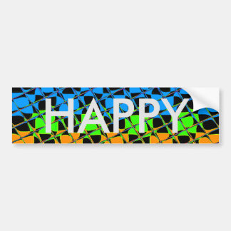 Latest lovely edgy colorful happy reflection desig bumper sticker