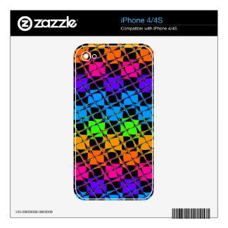Latest lovely edgy colorful happy reflection desig decal for iPhone 4