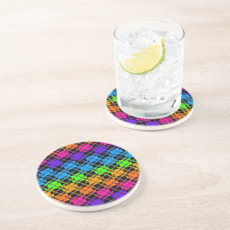 Latest lovely edgy colorful happy reflection desig drink coaster