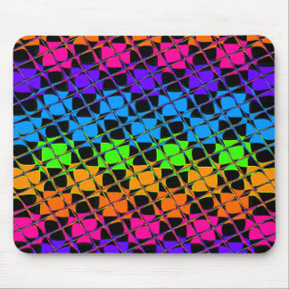 Latest lovely edgy colorful happy reflection desig mouse pad