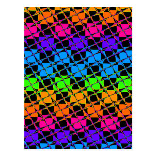 Latest lovely edgy colorful happy reflection desig postcard